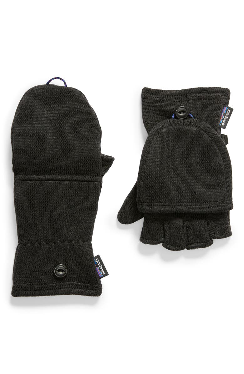 PATAGONIA Better Sweater<sup>®</sup> Gloves, Main, color, BLK BLACK