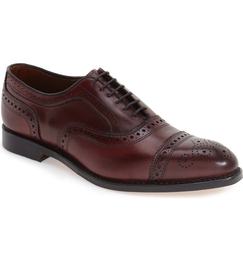 ALLEN EDMONDS Strand Cap Toe Oxford, Main, color, OXBLOOD
