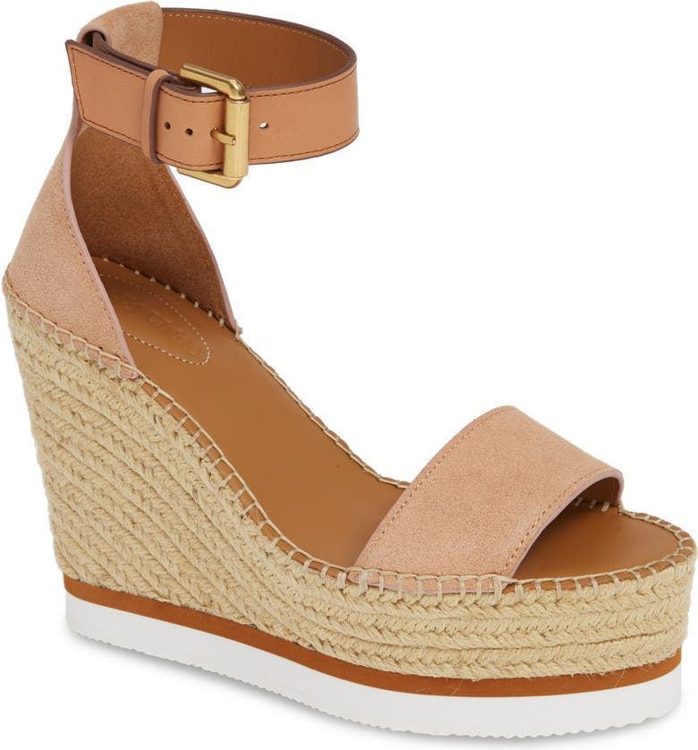 SEE BY CHLOÉ 'Glyn' Espadrille Wedge Sandal, Main, color, CIPRIA