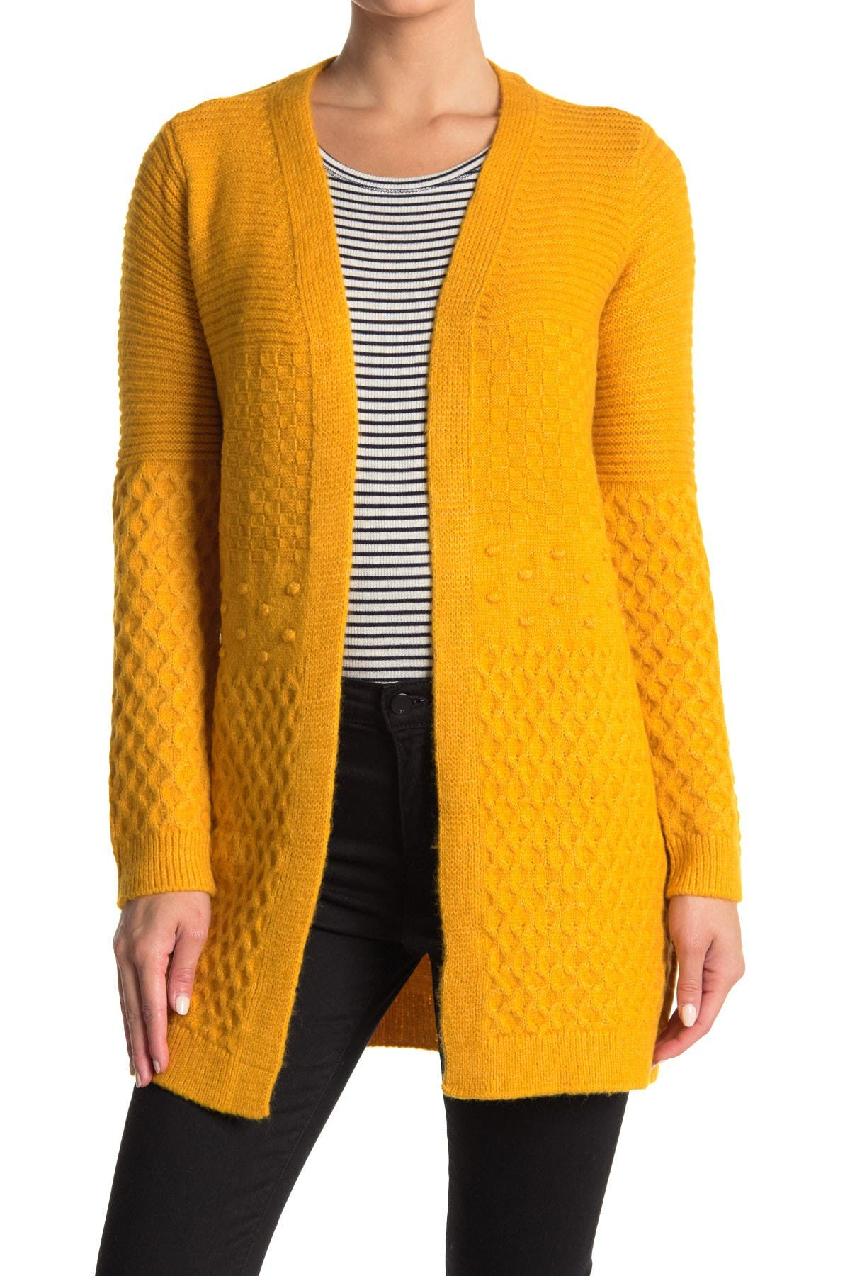 Image of Love by Design Monique Mixed Stitch Cardigan