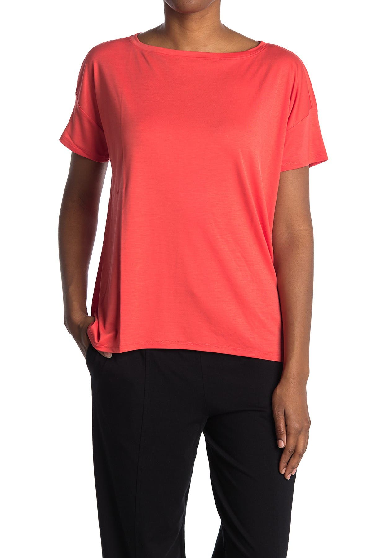 Image of Eileen Fisher Bateau Neck Top