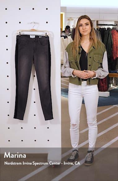 Le Skinny de Jeanne Velvet Tuxedo Stripe Jeans, sales video thumbnail