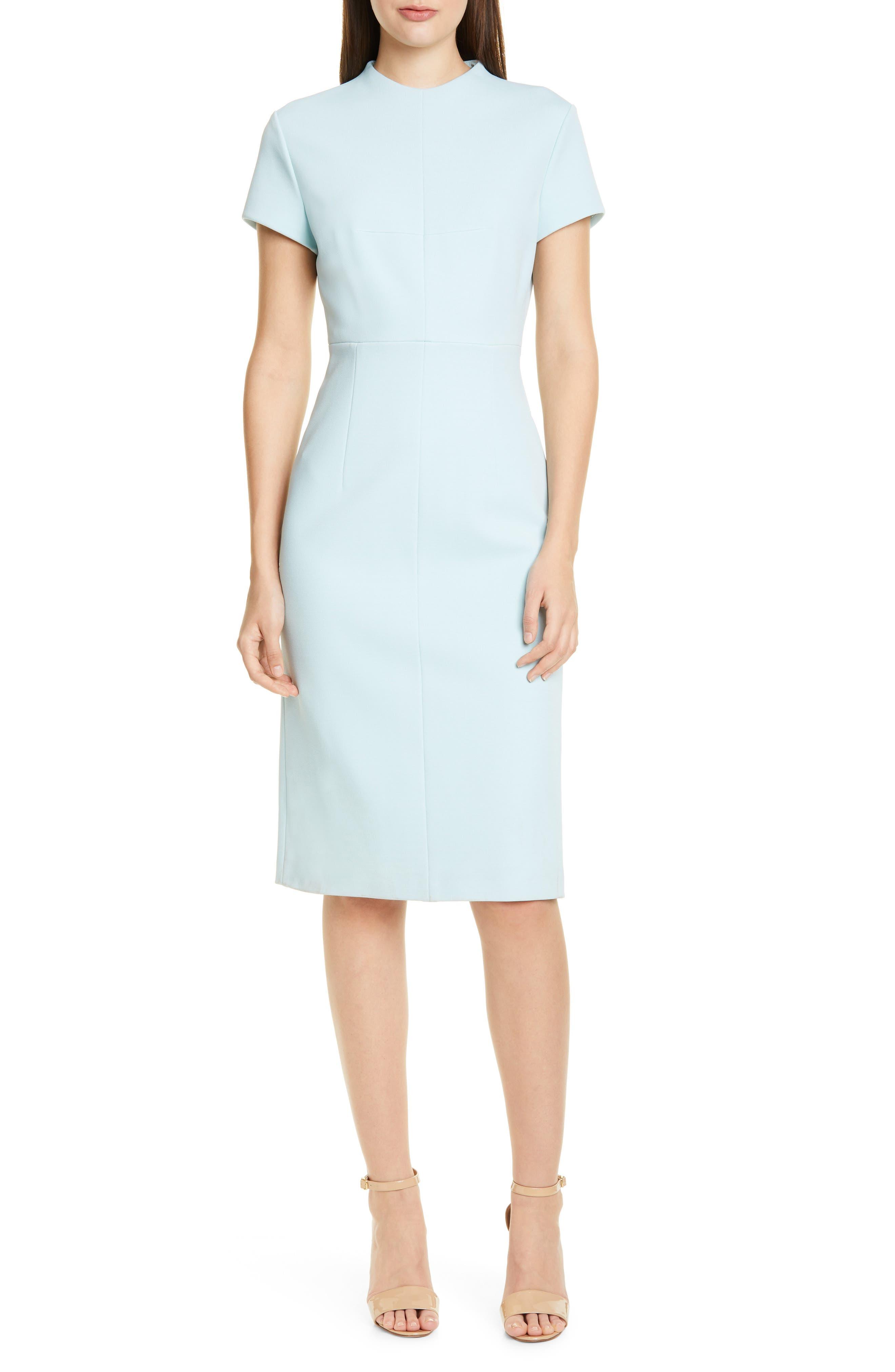 Petite Boss Demiara Sheath Dress, Blue