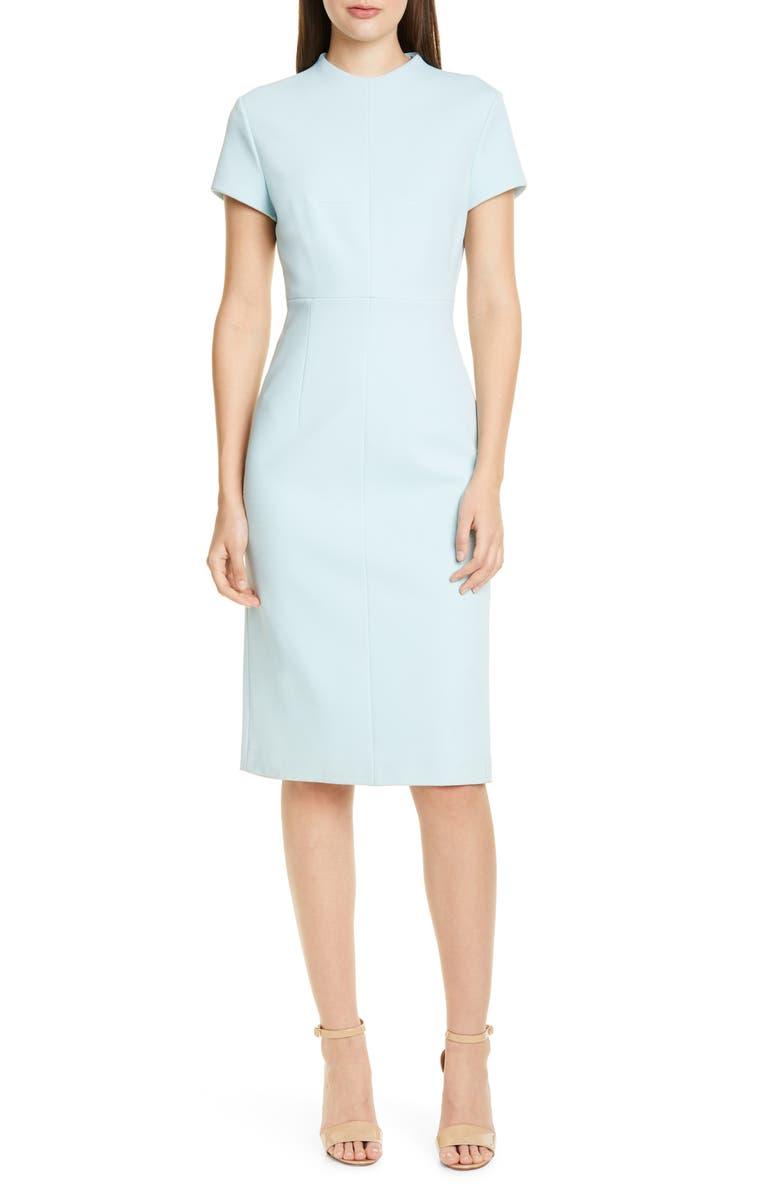 BOSS Demiara Sheath Dress, Main, color, MINT
