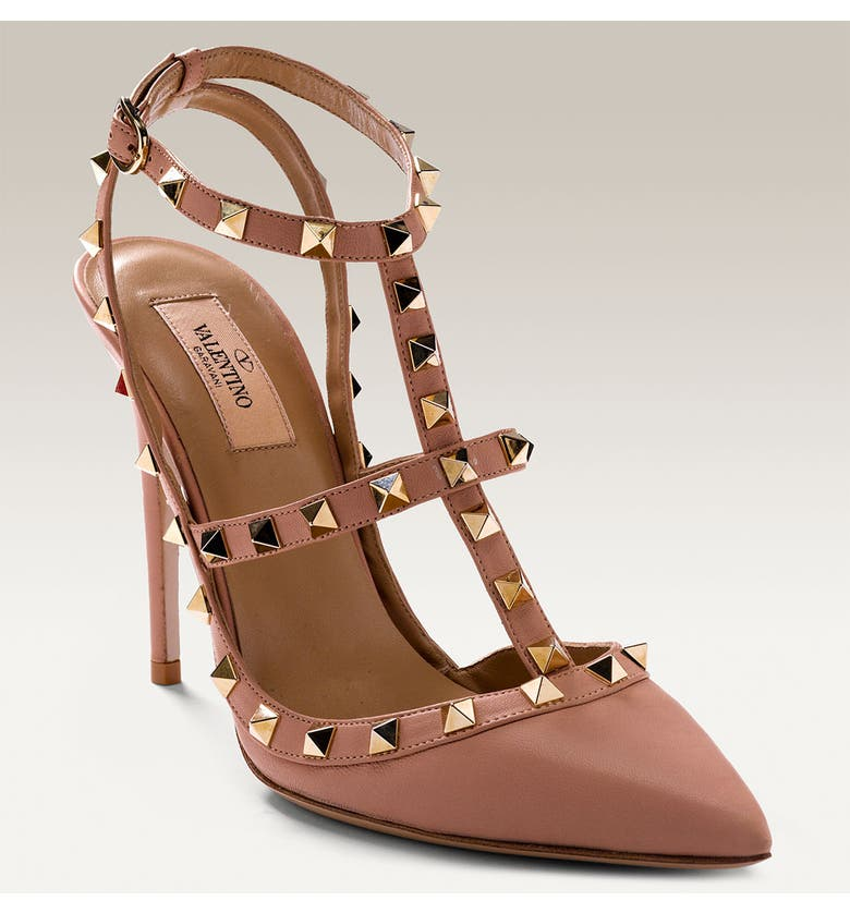VALENTINO GARAVANI Studded T-Strap Pump, Main, color, 269