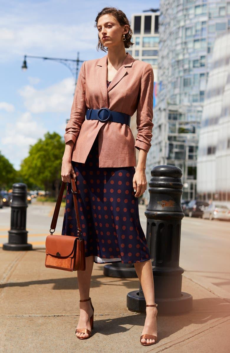 HALOGEN<SUP>®</SUP> Bias Cut A-Line Skirt, Main, color, 005