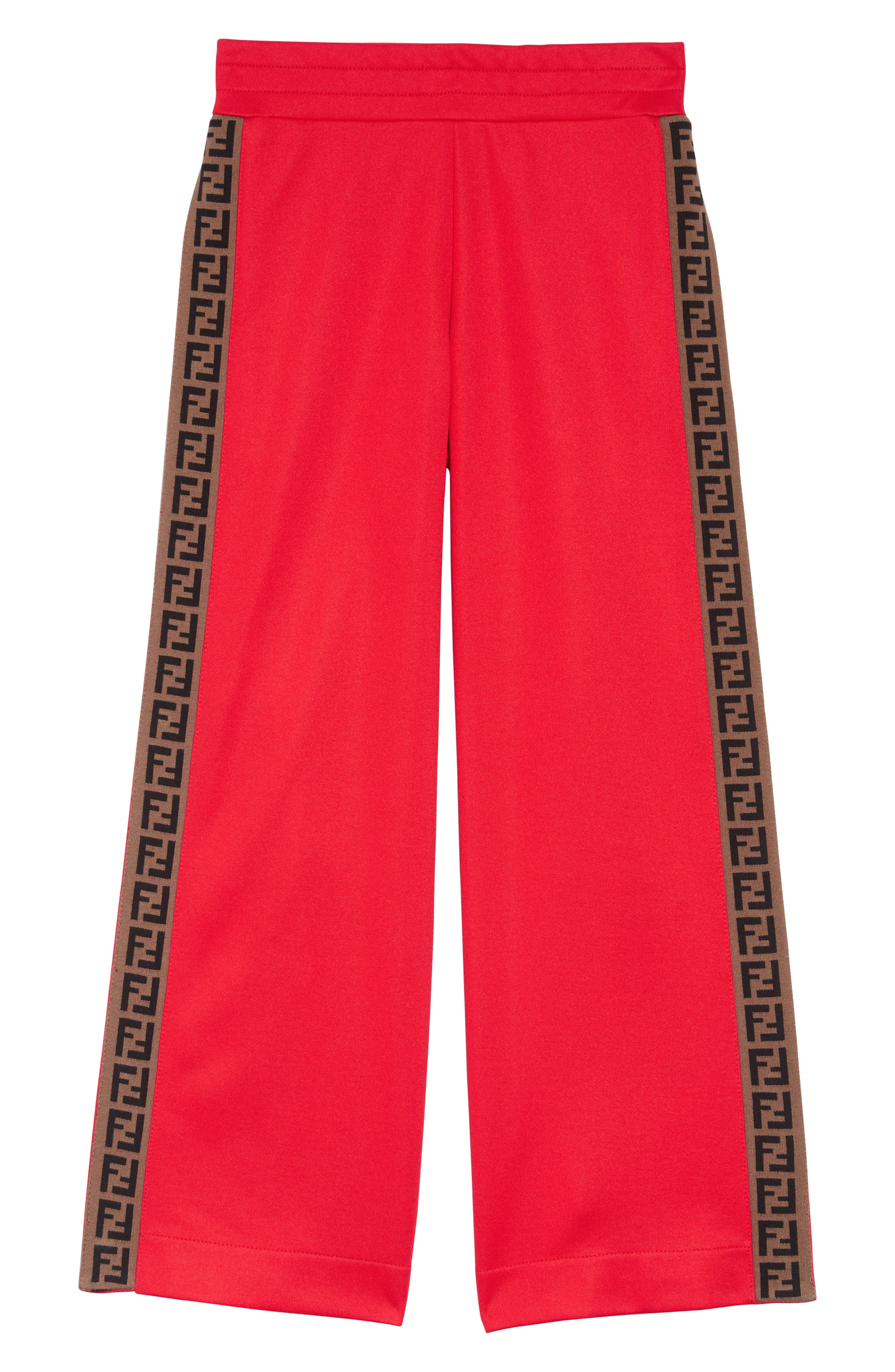 Logo Detail Snap Outseam Track Pants, Main, color, F0QC9 RED
