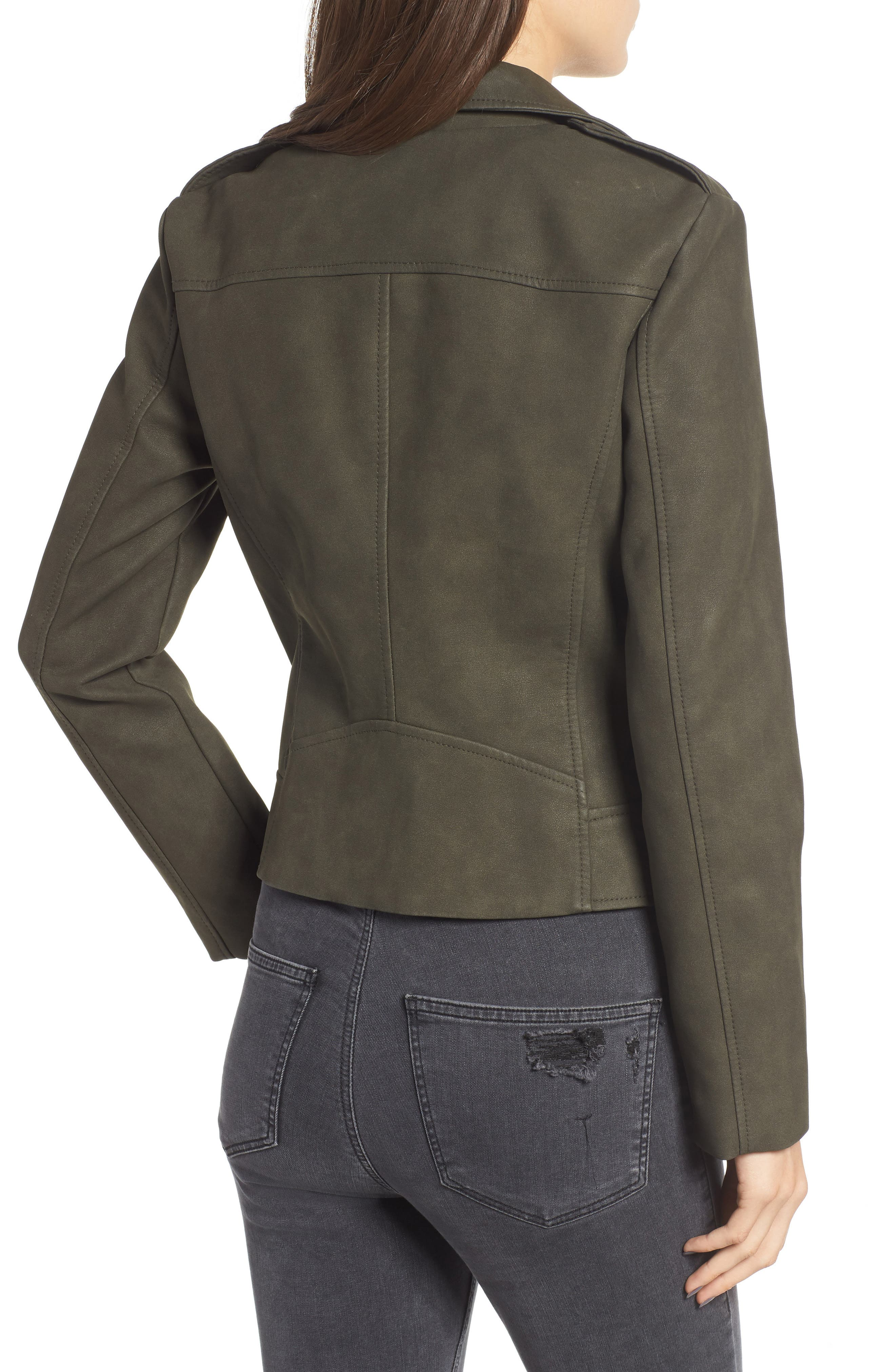 ,                             Easy Rider Faux Leather Moto Jacket,                             Alternate thumbnail 15, color,                             301