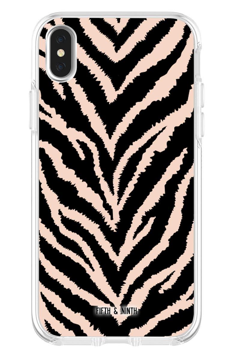 FIFTH & NINTH Safari iPhone X/Xs, Xs Max & XR Case, Main, color, BLACK