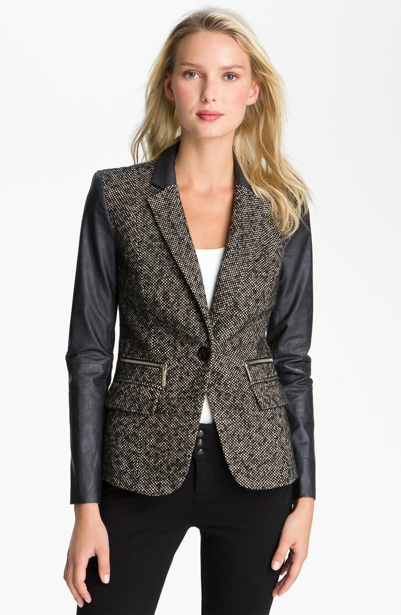 MICHAEL Michael Kors Jacket, Sweater & Leggings, Main, color, 001