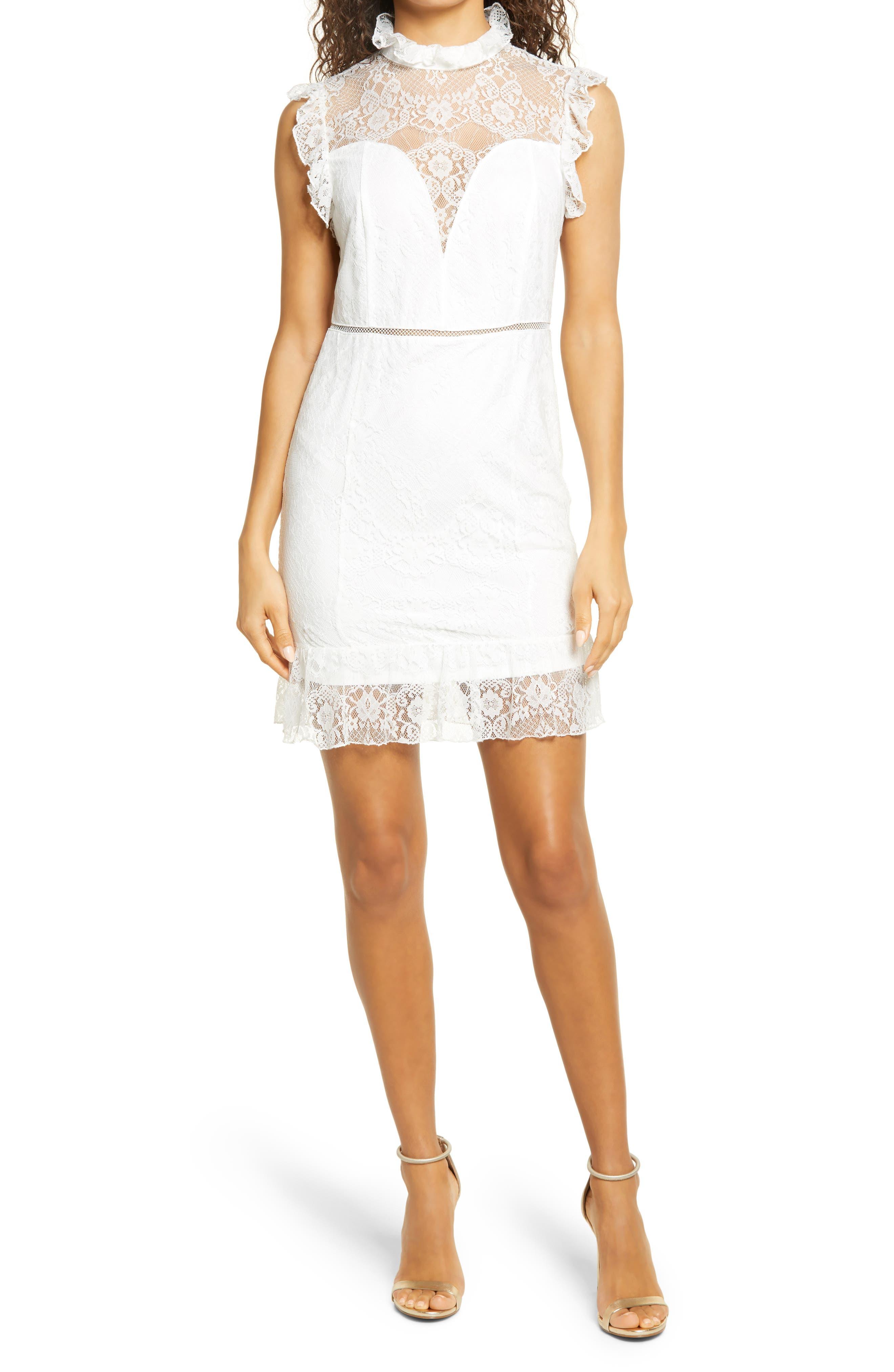 Lace Mock Neck Dress