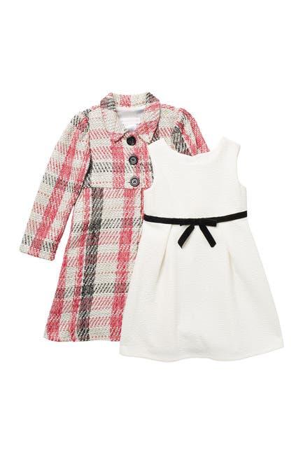 Image of GERSON & GERSON Boucle Coat & Dress Set
