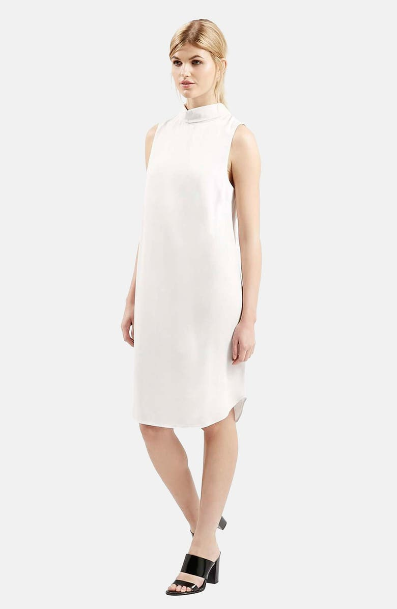 TOPSHOP 'Milo' Mock Collar Tunic Dress, Main, color, 050