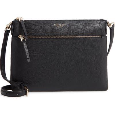 Kate Spade New York Medium Polly Leather Crossbody Bag - Black