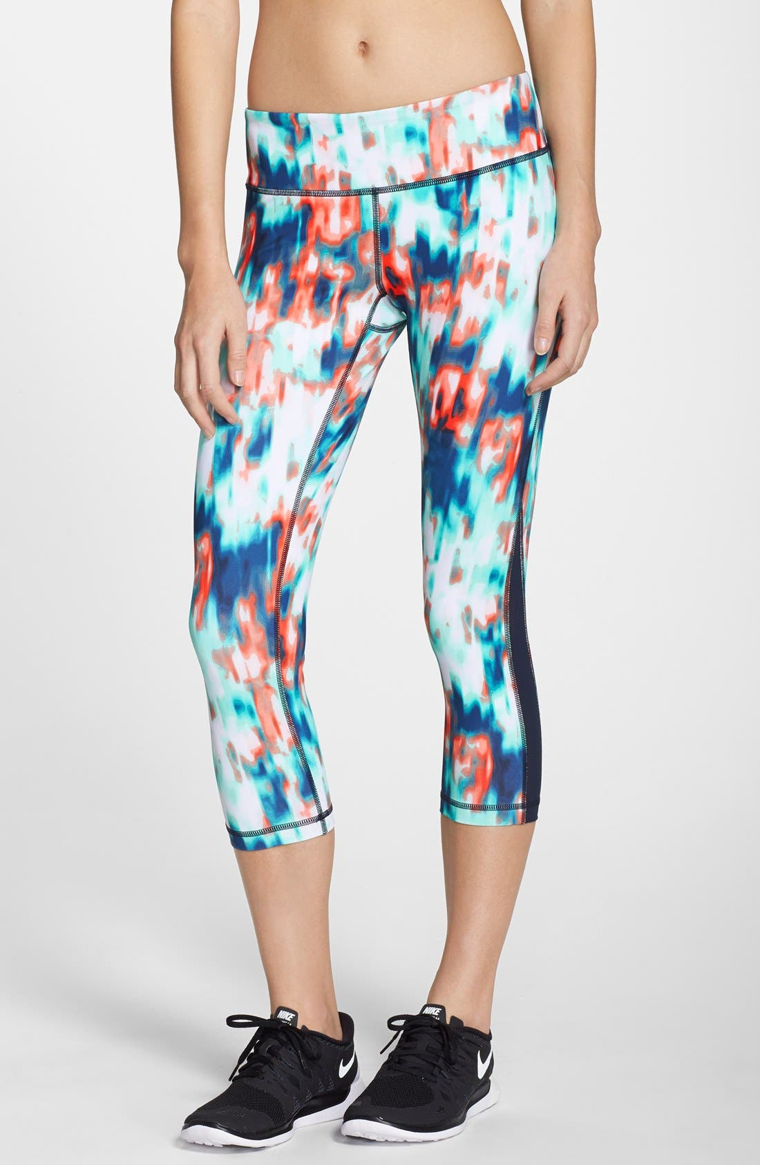 ,                             Live In Streamline Reversible Capris,                             Main thumbnail 57, color,                             431