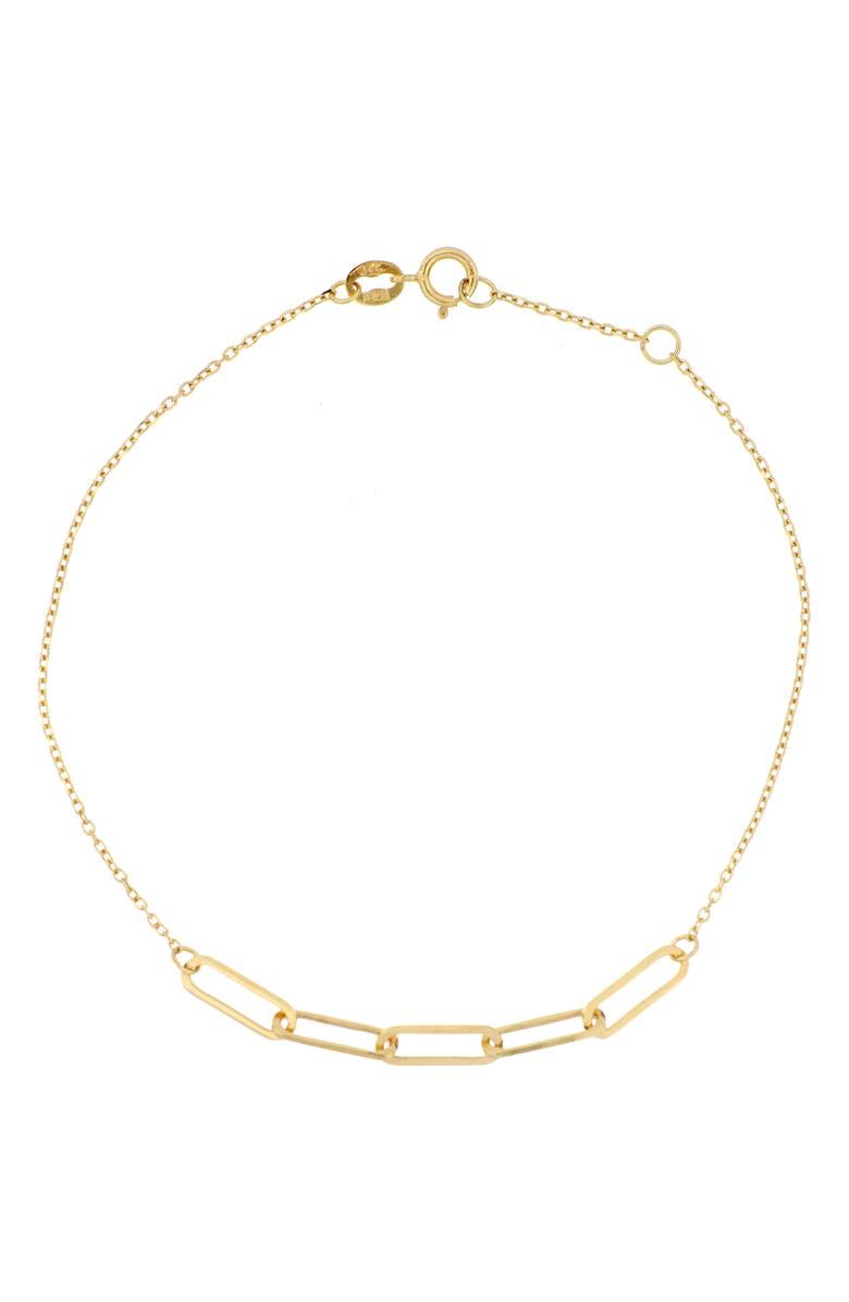 BONY LEVY 14K Gold Link Bracelet, Main, color, YELLOW GOLD