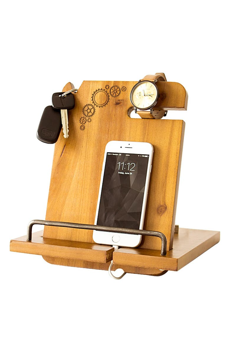 CATHY'S CONCEPTS Steampunk Monogram Docking Station, Main, color, 200