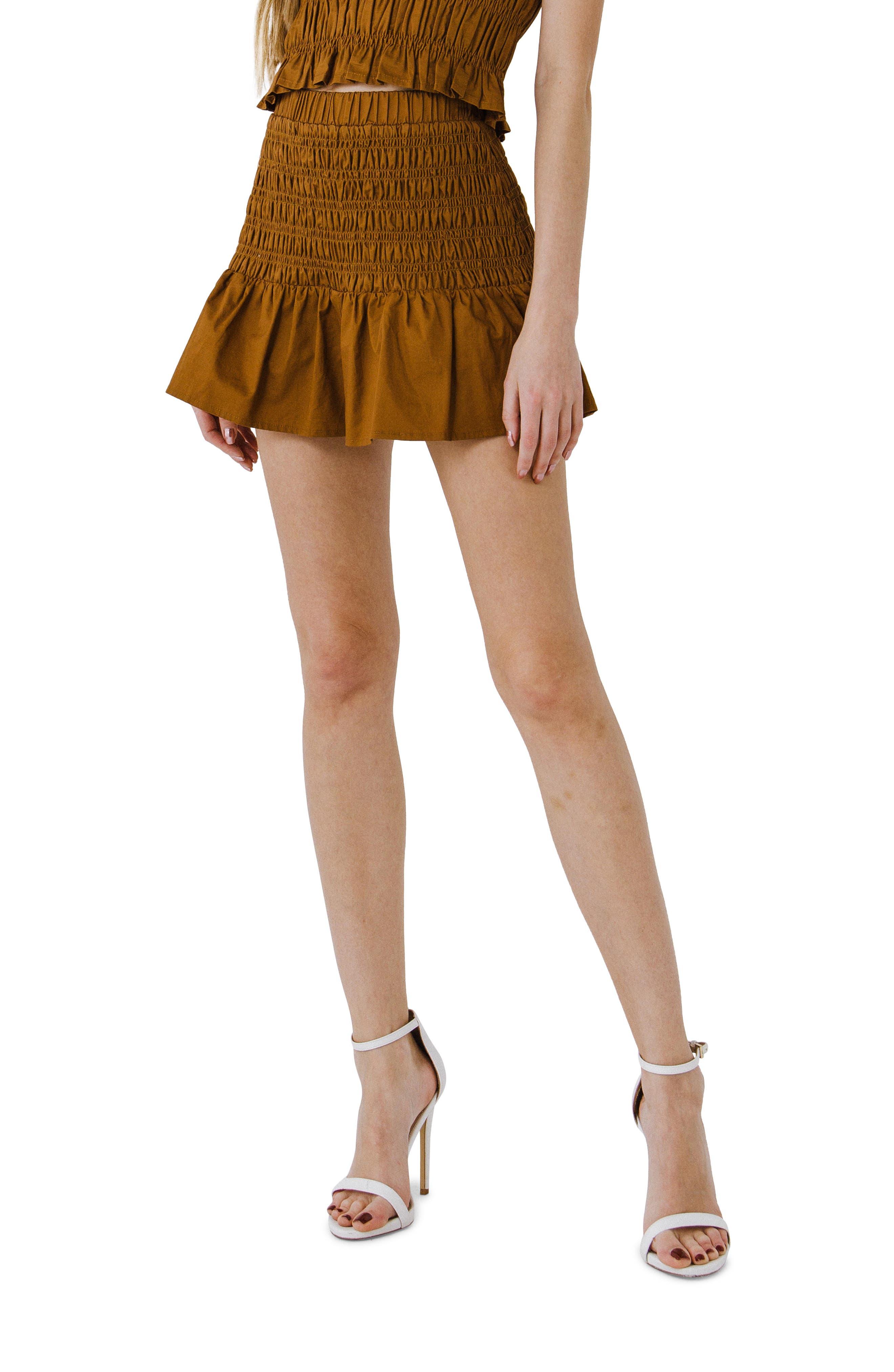Smocked Ruffle Shorts