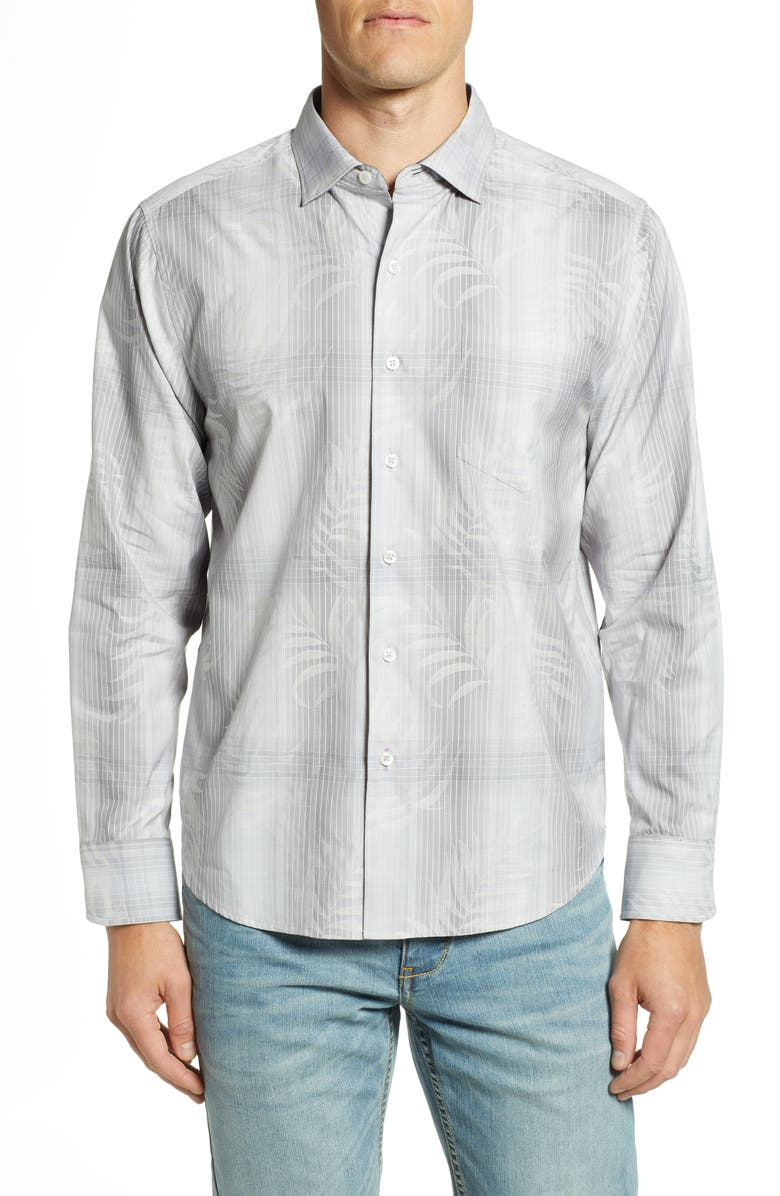 TOMMY BAHAMA Primo Palms Classic Fit Plaid Sport Shirt, Main, color, MICRO CHIP