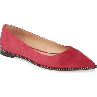 Coach Viviana Chain Trim Skimmer Flat- Red