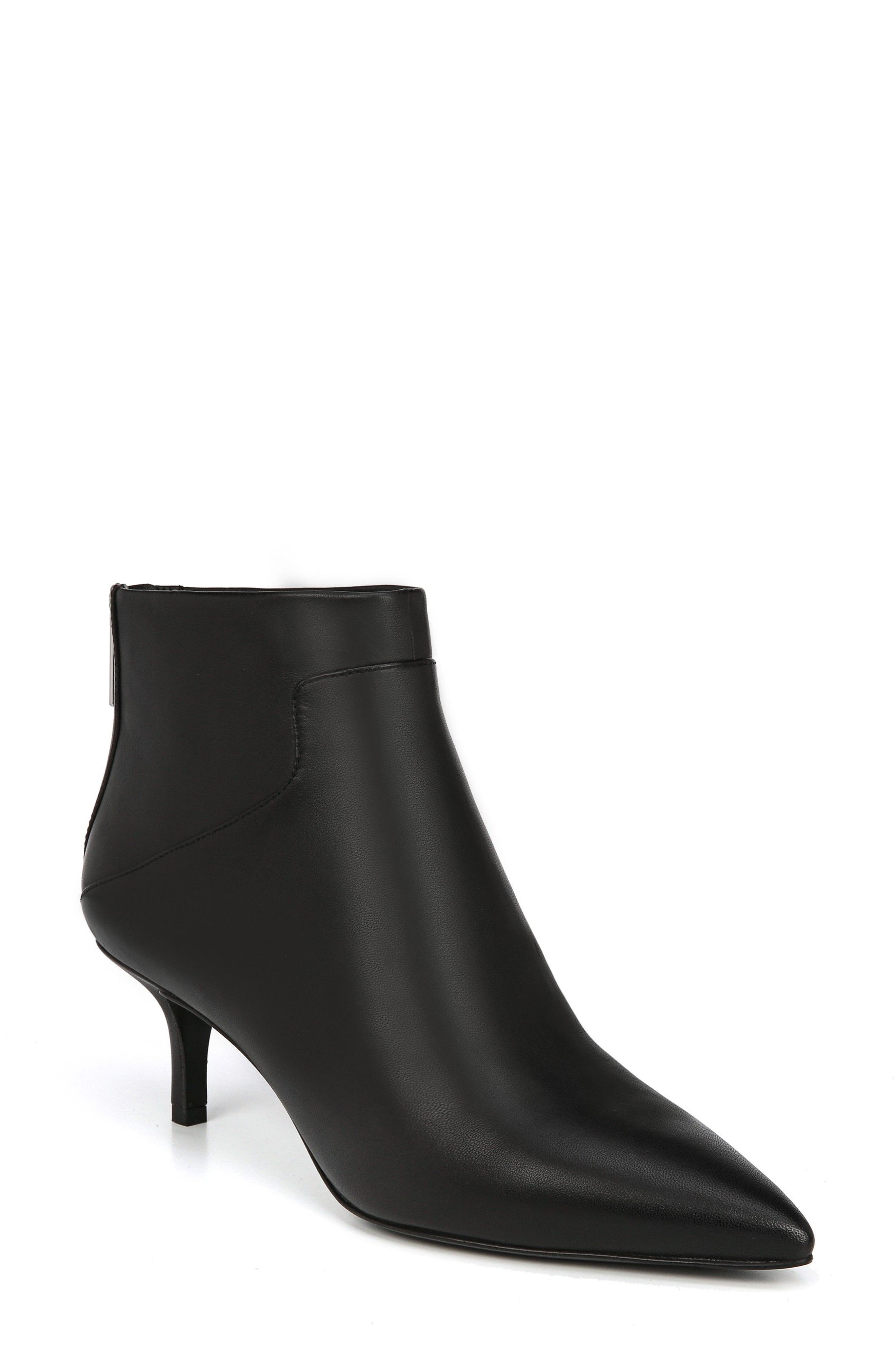 Image of Via Spiga Madilyn Leather Pointy Toe Bootie