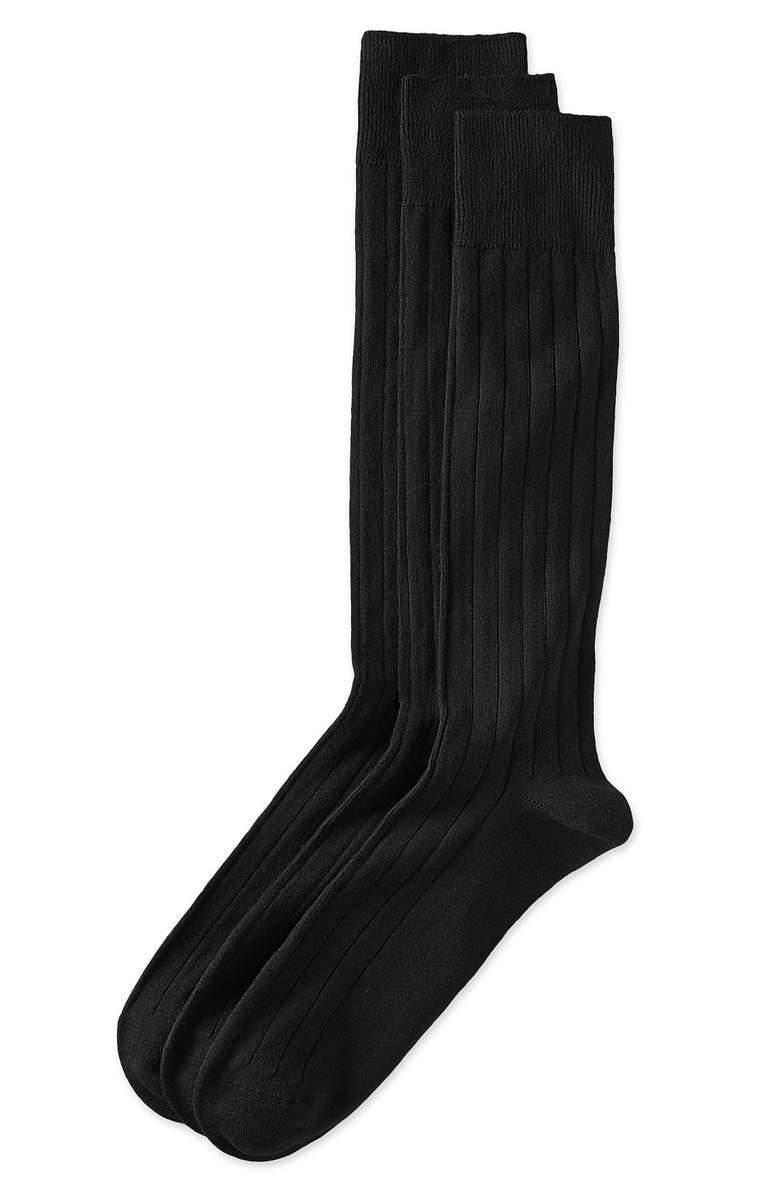 NORDSTROM Dress Socks, Main, color, 001