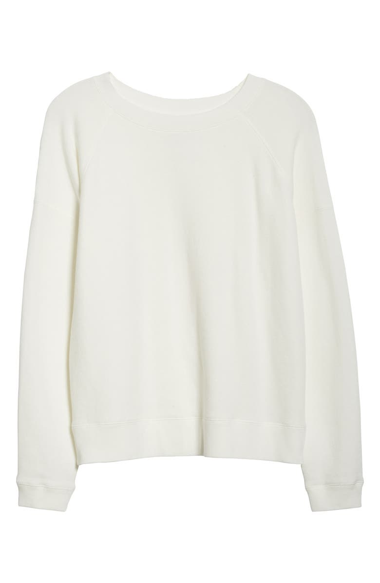 ENTIREWORLD French Terry Sweatshirt, Main, color, WHITE