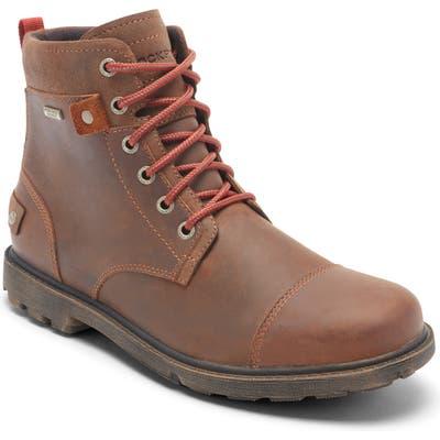 Rockport Rugged Bucks Ii Waterproof Plain Toe Boot, Brown