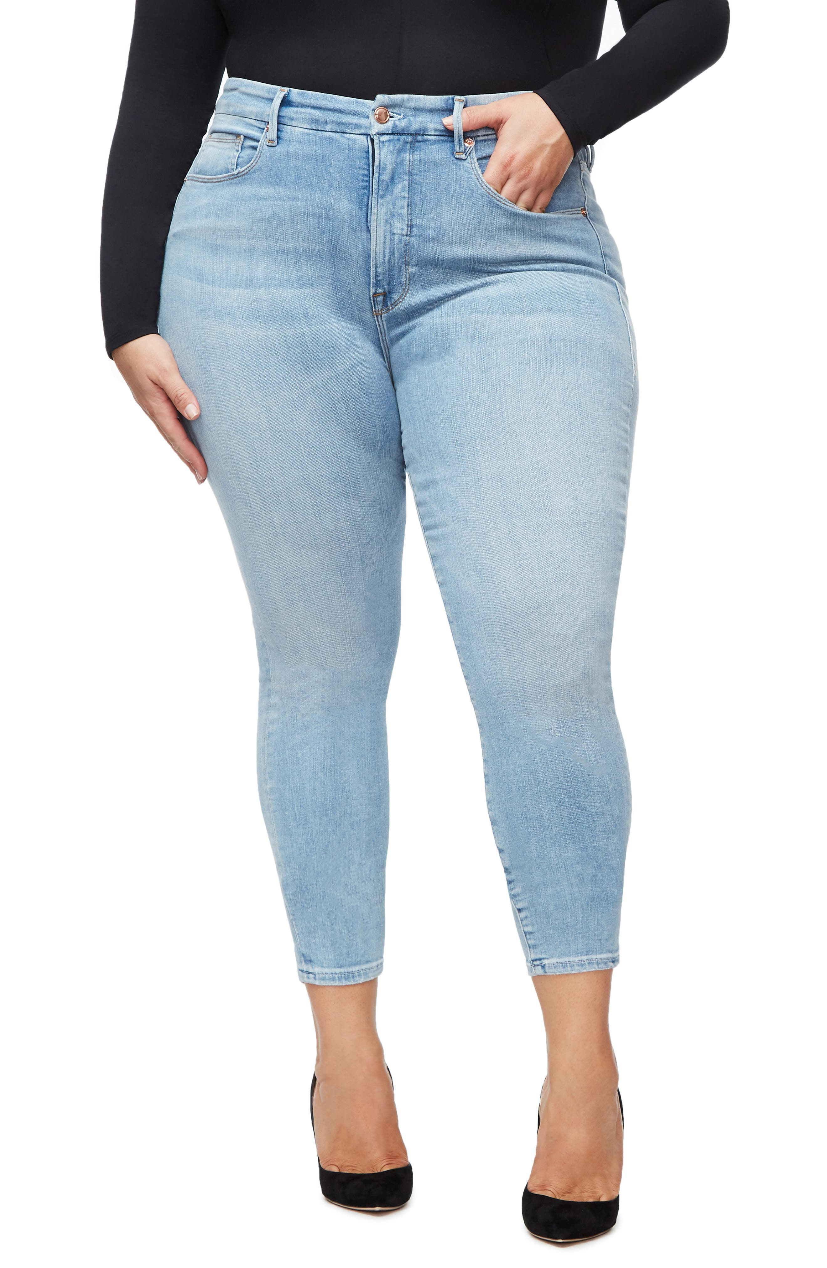 ,                             Good Legs Ankle Skinny Jeans,                             Alternate thumbnail 23, color,                             404