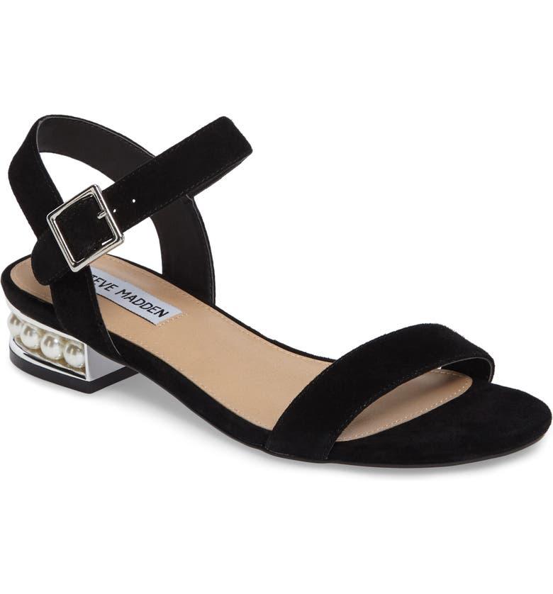STEVE MADDEN Embellished Sandal, Main, color, 006