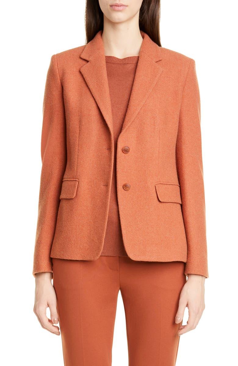 MAX MARA Maiorca Cashmere Piqué Jacket, Main, color, COPPER