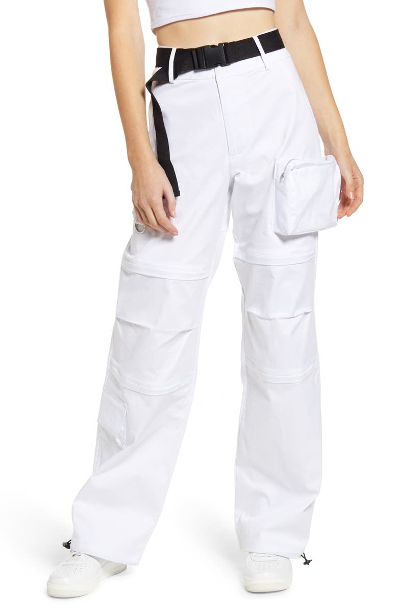 . Edam High Rise Cargo Pants With Webbed Belt by I.Am.Gia