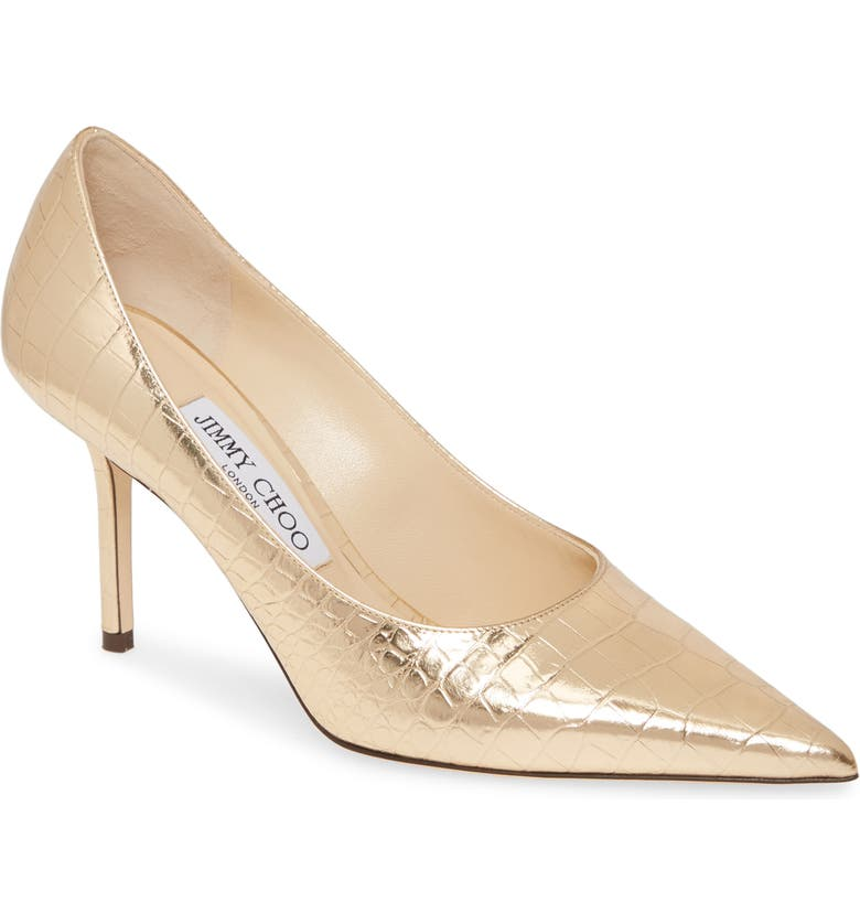 JIMMY CHOO Love Pointy Toe Pump, Main, color, LIGHT GOLD