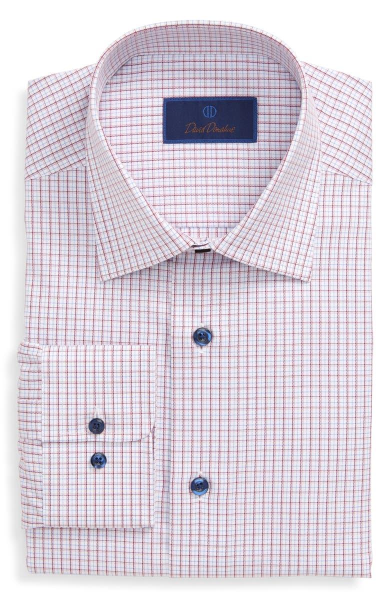 DAVID DONAHUE Check Dress Shirt, Main, color, 652