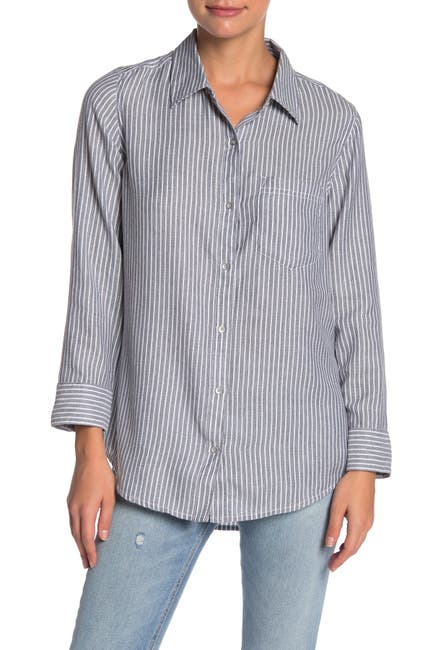 Image of Caslon Striped Button Down Shirt