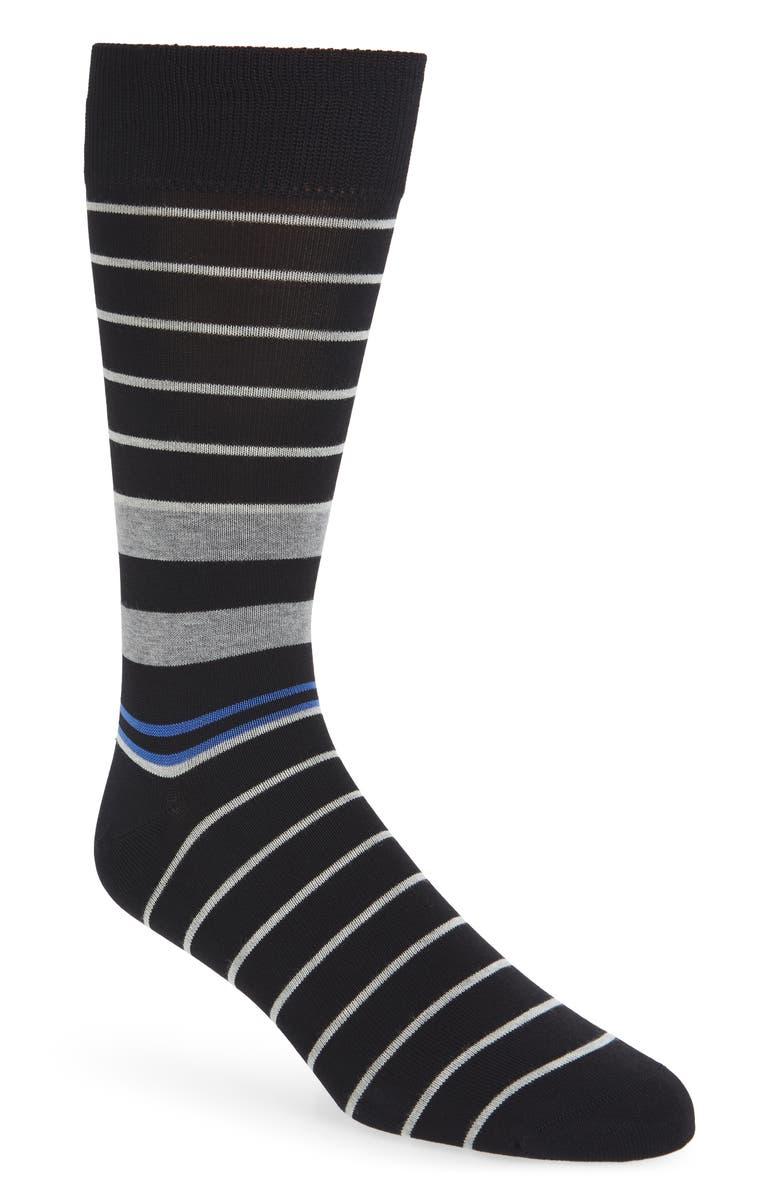 NORDSTROM MEN'S SHOP City Stripe Socks, Main, color, 001