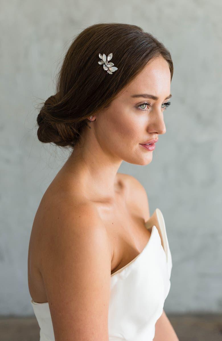 BRIDES & HAIRPINS Marianna Comb, Main, color, SILVER