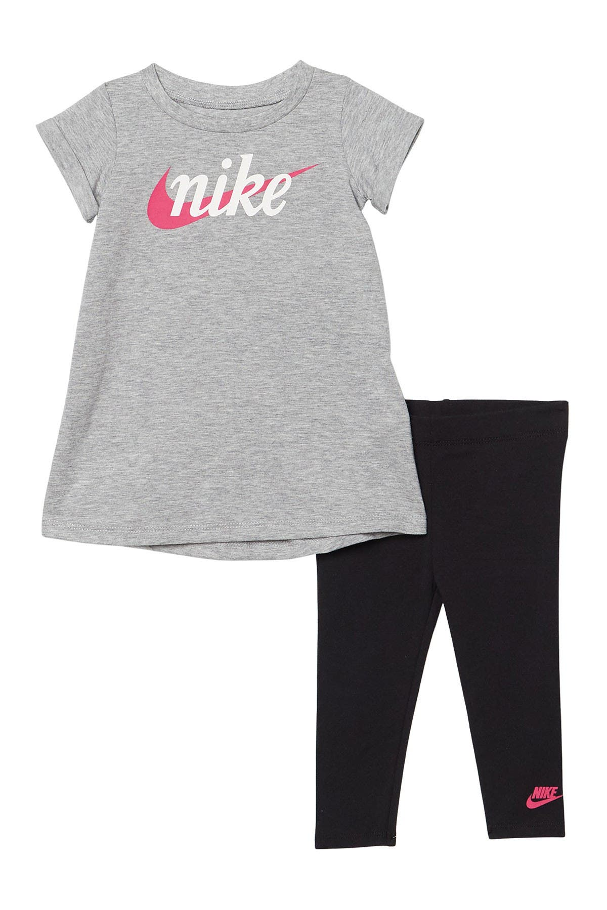 Image of Nike Short Sleeve Dress & Leggings Set