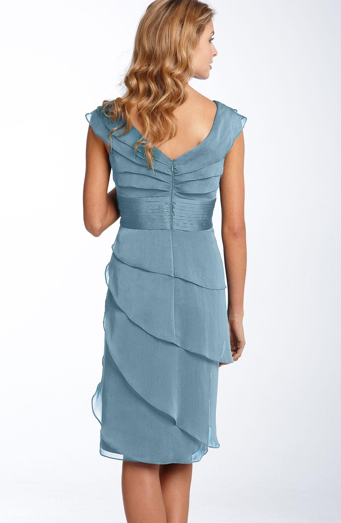 ,                             Tiered Chiffon Dress,                             Alternate thumbnail 25, color,                             440