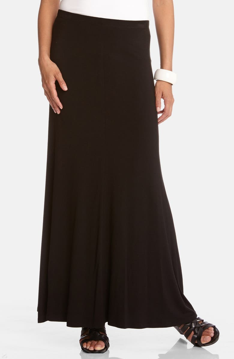 KAREN KANE Flared Maxi Skirt, Main, color, BLACK