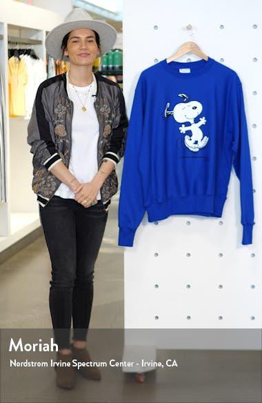 x Peanuts<sup>®</sup> Dancing Snoopy Graphic Sweatshirt, sales video thumbnail