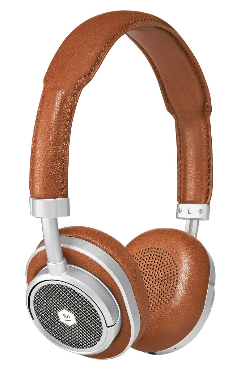 MASTER & DYNAMIC MW50Plus Wireless On/Over-Ear Headphones, Main, color, BROWN/ SILVER