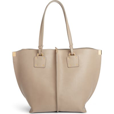 Chloe Vick Leather Tote - Grey