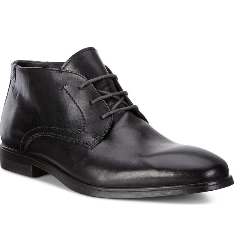 ECCO Melbourne Chukka Boot, Main, color, BLACK/ MAGNET