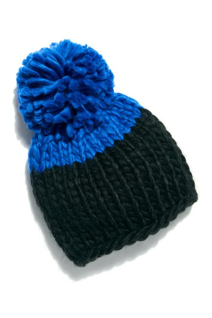 Image of Free People Cozy Up Color Block Pom Beanie