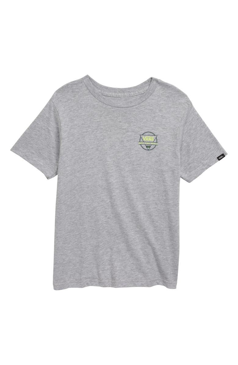 VANS Tricircle Graphic T-Shirt, Main, color, ATHLETIC HEATHER