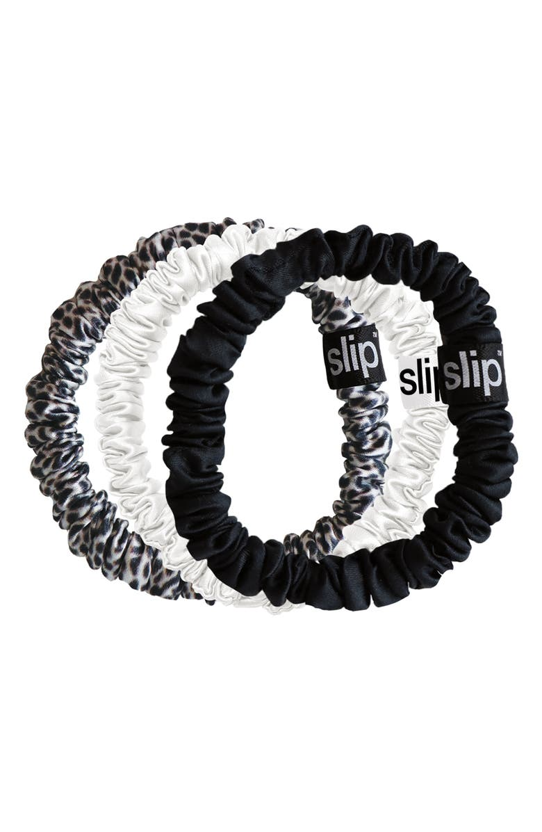 SLIP Pure Silk 3-Pack Skinny Hair Ties, Main, color, NO COLOR