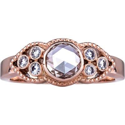 Sethi Couture Sienna Champagne & White Diamond Ring