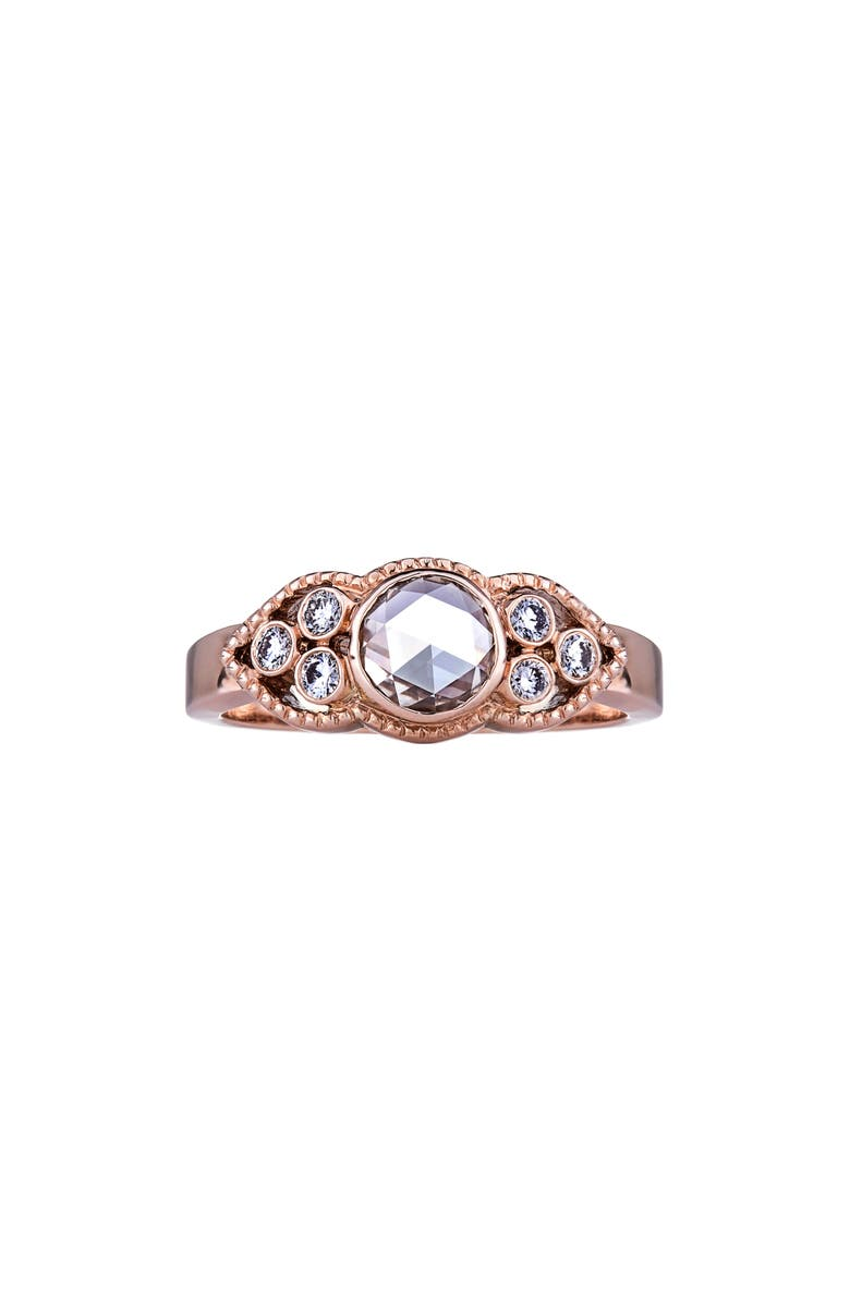 SETHI COUTURE Sienna Champagne & White Diamond Ring, Main, color, ROSE GOLD/ DIAMOND