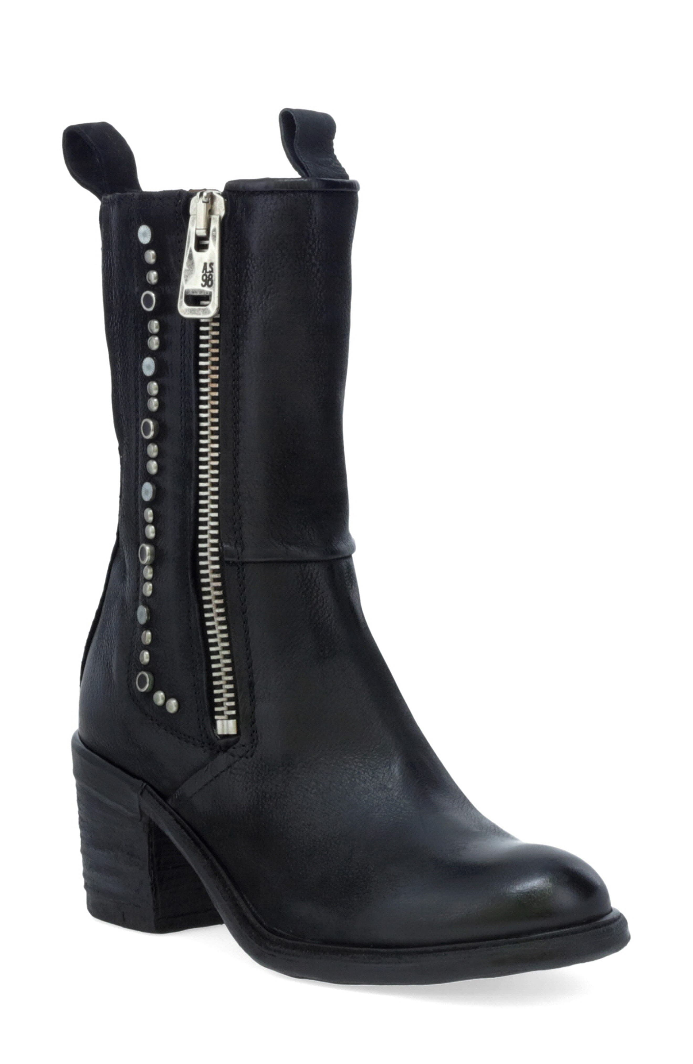 Women's A.s.98 Jackie Studded Bootie
